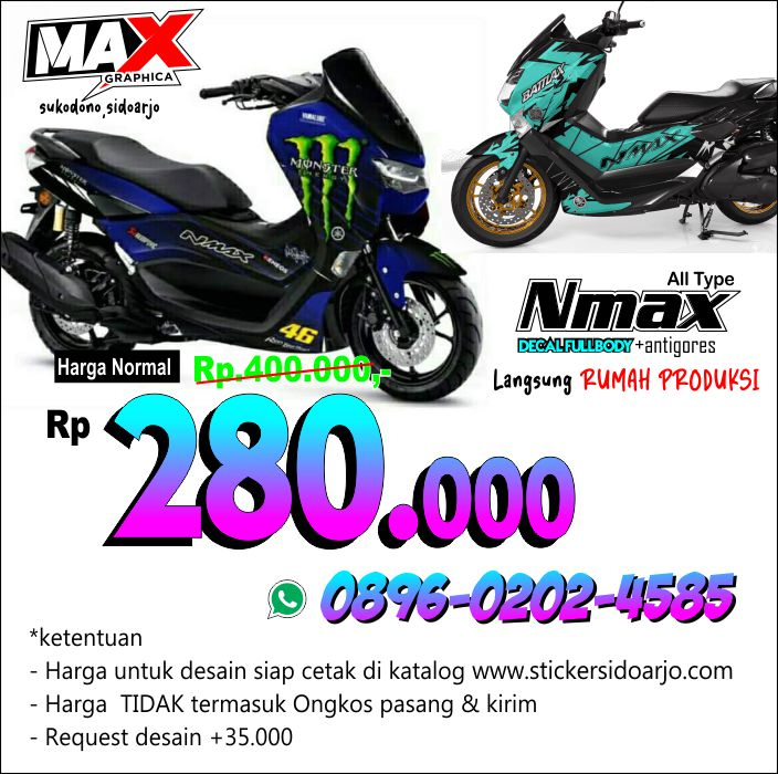 jasa pasang stikerdecal NMAX maxgraphica cutting sticker sidoarjo